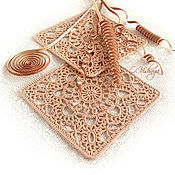 Для дома и интерьера handmade. Livemaster - original item Crocheted napkins - coasters. Collection of