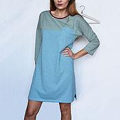 Одежда handmade. Livemaster - original item Dress two-tone loose with pocket. Handmade.
