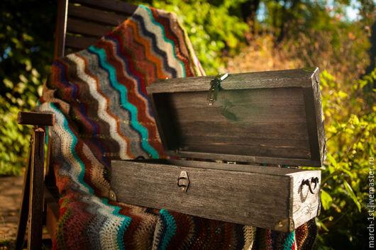 Текстиль, ковры ручной работы. Ярмарка Мастеров - ручная работа. Купить Плед ручной работы. Handmade. Разноцветный, плед вязаный