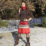 Одежда ручной работы. Ярмарка Мастеров - ручная работа юбка КАЛИНА. Handmade.
