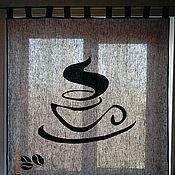 """Для дома и интерьера ручной работы. Ярмарка Мастеров - ручная работа Штора льняная """"Кофе"""". Handmade."""