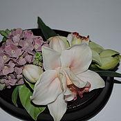 Для дома и интерьера ручной работы. Ярмарка Мастеров - ручная работа орхидеи и сирень. Handmade.