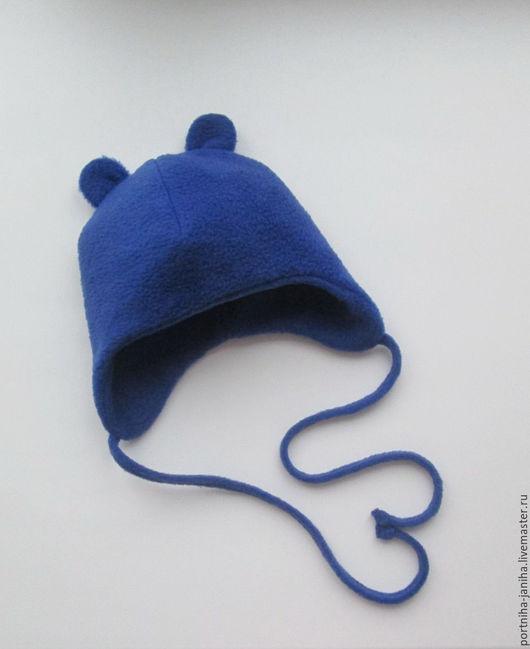 Шапки и шарфы ручной работы. Ярмарка Мастеров - ручная работа. Купить Комплект шапка и шарф для малыша. Handmade. Голубой, поларфлис