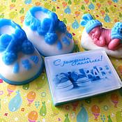 """Мыло ручной работы. Ярмарка Мастеров - ручная работа Мыльный набор """"С новорожденным"""". Handmade."""