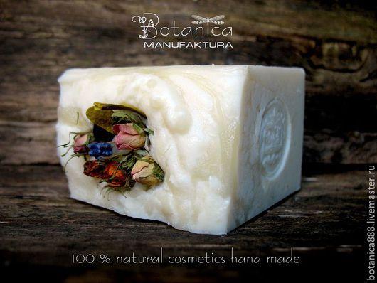 """Мыло ручной работы. Ярмарка Мастеров - ручная работа. Купить Мыло """"Полевые травы"""" (натуральное, с нуля). Handmade. Белый"""