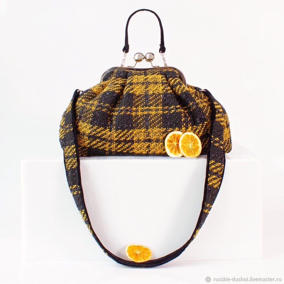 Chanel tweed Pasticcino Mandarancio handbag, Classic Bag, Moscow,  Фото №1