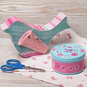 """Материалы для творчества handmade. Livemaster - original item Copy of Copy of Handmade sewing box """"Sewing cats"""". Handmade."""