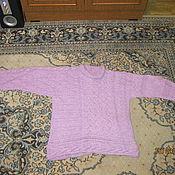 Одежда ручной работы. Ярмарка Мастеров - ручная работа теплый сиреневый джемпер. Handmade.