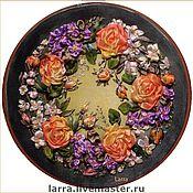 """Картины и панно ручной работы. Ярмарка Мастеров - ручная работа """"Розовый венок"""". Handmade."""