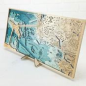 handmade. Livemaster - original item Saint Petersburg. Painting 3D depth map of the Neva Bay, Gulf of Finland.. Handmade.