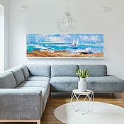 Картины и панно handmade. Livemaster - original item Painting with the sea on canvas. Handmade.