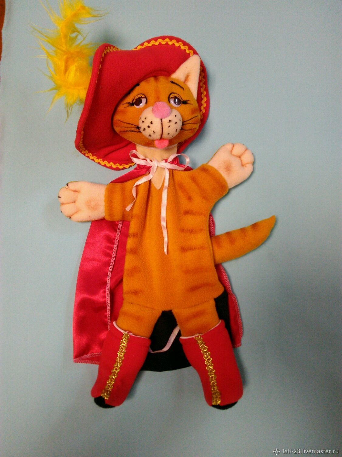 Puss in Boots. Glove puppet, Puppet show, Voronezh,  Фото №1