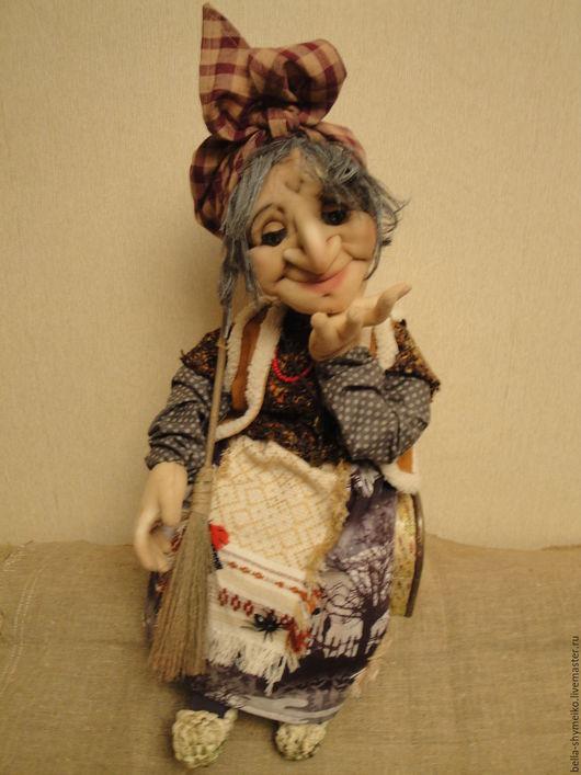 Коллекционные куклы ручной работы. Ярмарка Мастеров - ручная работа. Купить Баба Яга. Handmade. Коричневый, баба яга
