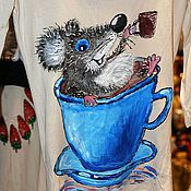 """Одежда ручной работы. Ярмарка Мастеров - ручная работа Кофточка """"Я тоже люблю кофе!"""". Handmade."""