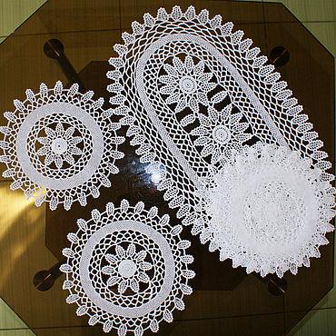 Для дома и интерьера ручной работы. Ярмарка Мастеров - ручная работа Набор салфеток из хлопка. Handmade.