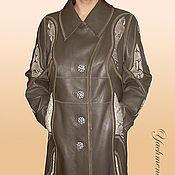 Одежда ручной работы. Ярмарка Мастеров - ручная работа Кожаное пальто. Handmade.