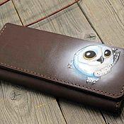 Сумки и аксессуары handmade. Livemaster - original item Women`s Wallet leather Owl. Handmade.