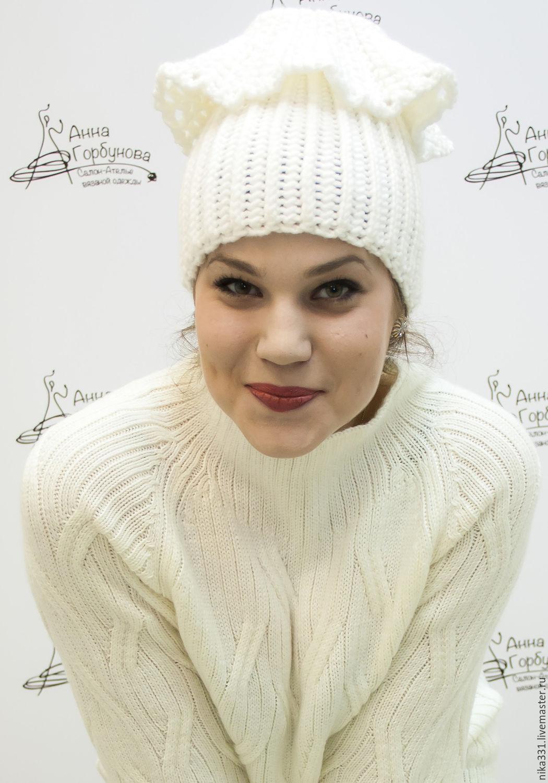 Белый вязаный свитер женский доставка