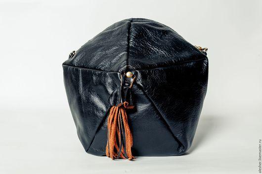 """Женские сумки ручной работы. Ярмарка Мастеров - ручная работа. Купить Сумка """"Мягкие грани"""". Handmade. Черный, однотонный, сумка"""