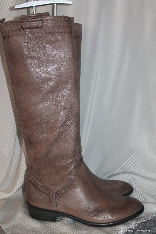 Винтаж: Сапожки итальянские 100% кожа, Винтажная обувь, Киев, Фото №1