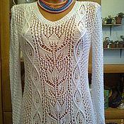 """Одежда ручной работы. Ярмарка Мастеров - ручная работа Кофта""""Белые тюльпаны"""". Handmade."""
