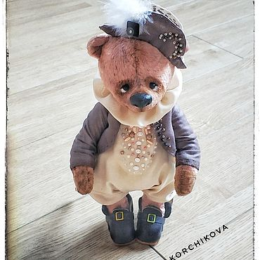Куклы и игрушки ручной работы. Ярмарка Мастеров - ручная работа Джонни мишка тедди. Handmade.