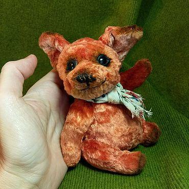 Куклы и игрушки ручной работы. Ярмарка Мастеров - ручная работа Тедди - Лисёнок Плюшик. Handmade.