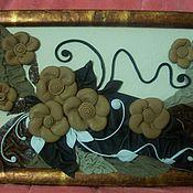 Картины и панно ручной работы. Ярмарка Мастеров - ручная работа Картина из кожи. Handmade.