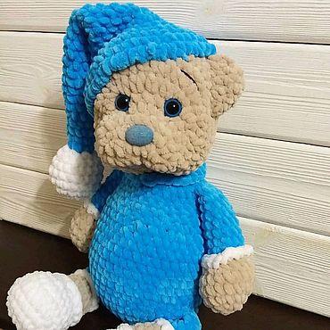 """Куклы и игрушки ручной работы. Ярмарка Мастеров - ручная работа Вязаная магкая игрушка """"Мишка в пижамке"""". Handmade."""