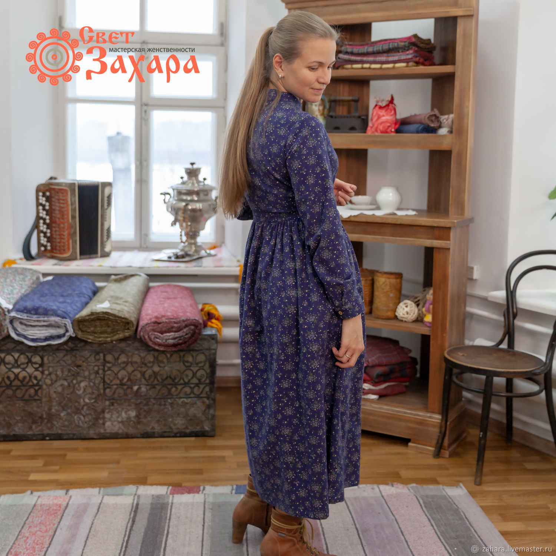 Платье теплое синяя байка, Платья, Киров, Фото №1