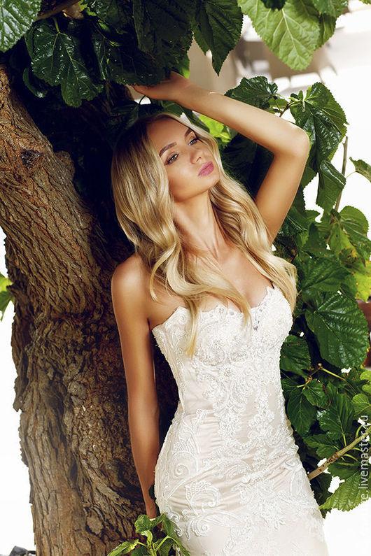 Одежда и аксессуары ручной работы. Ярмарка Мастеров - ручная работа. Купить Свадебное платье. Handmade. Белый, свадебное платье дизайн