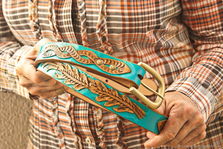 Women's leather belt 'Celtic style' - color, Straps, Krasnodar,  Фото №1