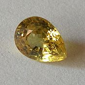 Материалы для творчества handmade. Livemaster - original item Lemon yellow 1.17 carat natural sapphire. Handmade.