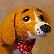Куклы и игрушки ручной работы. Ярмарка Мастеров - ручная работа Рыжий щенок войлочный. Handmade.