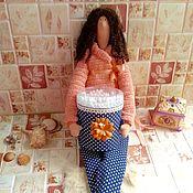 Куклы и игрушки handmade. Livemaster - original item Tilda bath angel - cotton swab holder. Handmade.