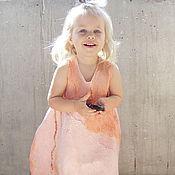 Работы для детей, ручной работы. Ярмарка Мастеров - ручная работа Нежно-розовое платье-баллон. Для малышки 2-3 года. Handmade.