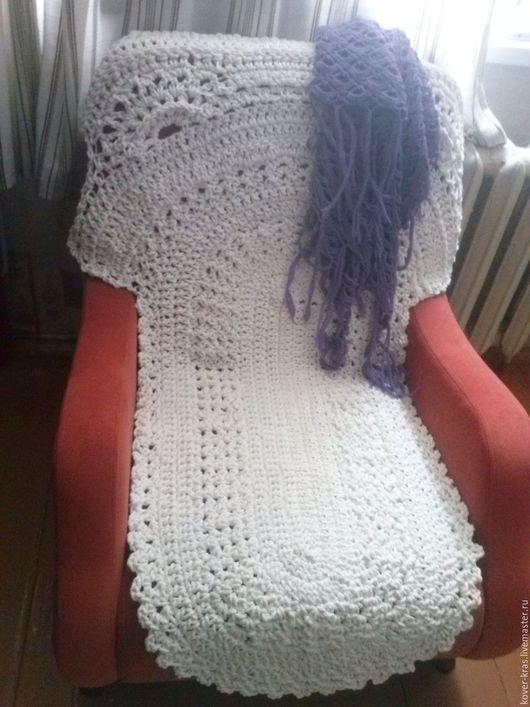 Текстиль, ковры ручной работы. Ярмарка Мастеров - ручная работа. Купить Накидка на кресло. Handmade. Белый, ручная работа handmade
