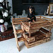 Домик для питомца ручной работы. Ярмарка Мастеров - ручная работа Домик двухярусный для собак и кошек. Handmade.