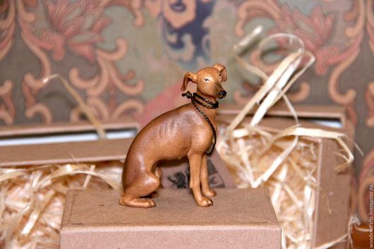 Статуэтки ручной работы. Ярмарка Мастеров - ручная работа. Купить Борзая из дерева. Handmade. Комбинированный, миниатюра
