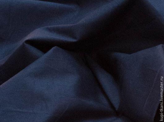 Шитье ручной работы. Ярмарка Мастеров - ручная работа. Купить Поплин темно-синий. Handmade. Комбинированный, поплин, хлопок с эластаном