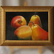 """Картины и панно ручной работы. Ярмарка Мастеров - ручная работа Картина маслом """"Фрукты"""". Handmade."""