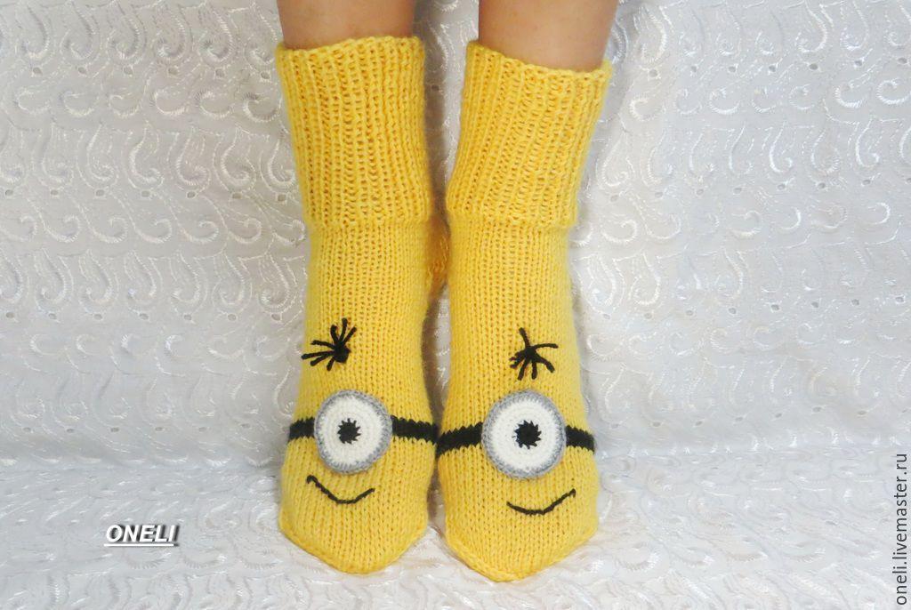Вязаные носки на спицах своими руками
