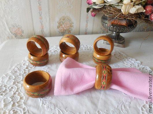 Винтажные предметы интерьера. Ярмарка Мастеров - ручная работа. Купить Кольца для салфеток, деревянные кольца, этно стиль. Handmade. Коричневый