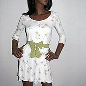Одежда ручной работы. Ярмарка Мастеров - ручная работа Белое Платье в ромашку. Handmade.