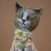 Куклы и игрушки ручной работы. Ярмарка Мастеров - ручная работа Кошечка Роза на чемодане. Handmade.