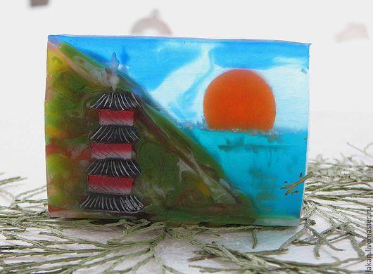 Японская пагода. Картина из мыла. Творческая мастерская `Лакан`