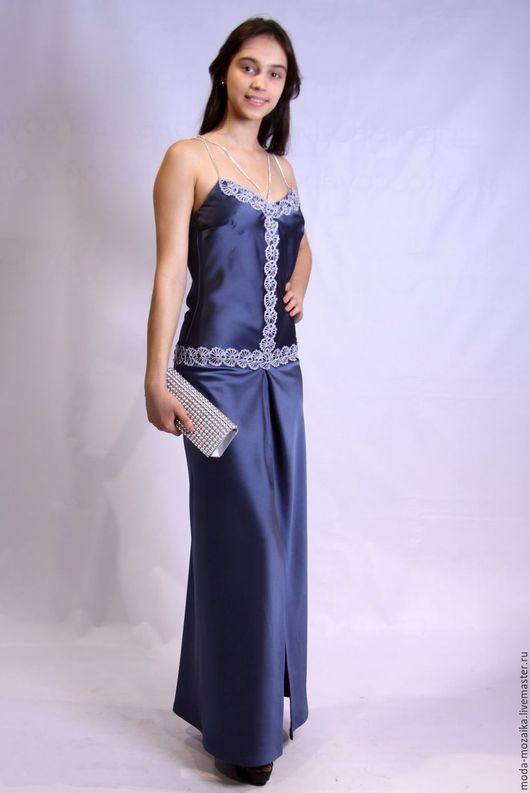 Платья ручной работы. Ярмарка Мастеров - ручная работа. Купить Платье вечернее. Handmade. Синий, Платье нарядное, платье макси