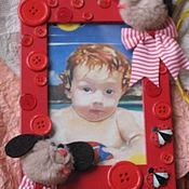 """Сувениры и подарки ручной работы. Ярмарка Мастеров - ручная работа Рамка """"Яркое детство"""".. Handmade."""