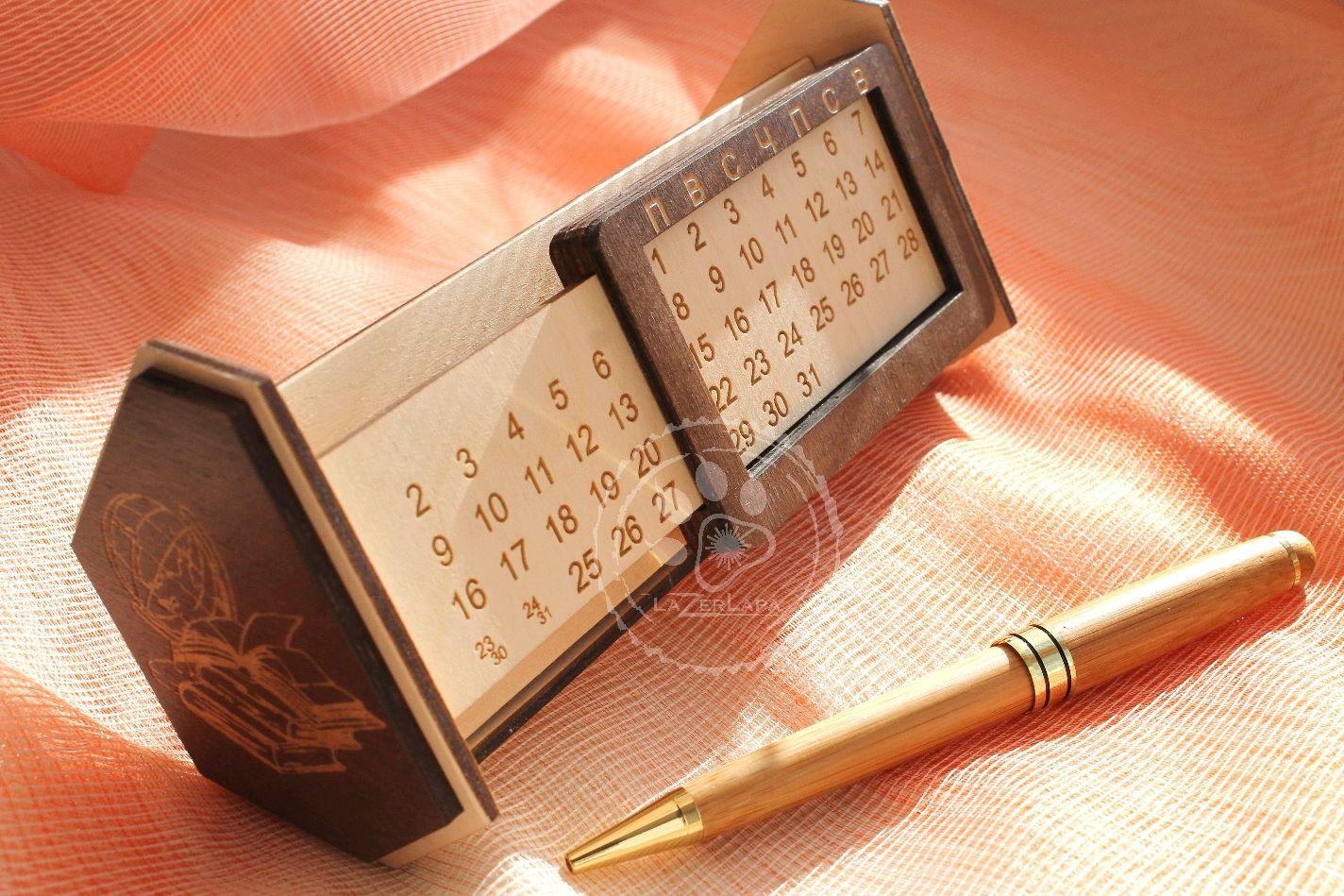 Вечный настольный календарь подарок учителю воспитателю на выпускной, Календари, Тверь, Фото №1