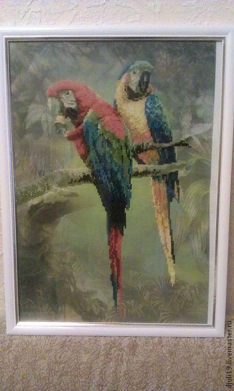 Животные ручной работы. Ярмарка Мастеров - ручная работа. Купить попугаи. Handmade. Бордовый, синий, голубой, мулине гамма (gamma)
